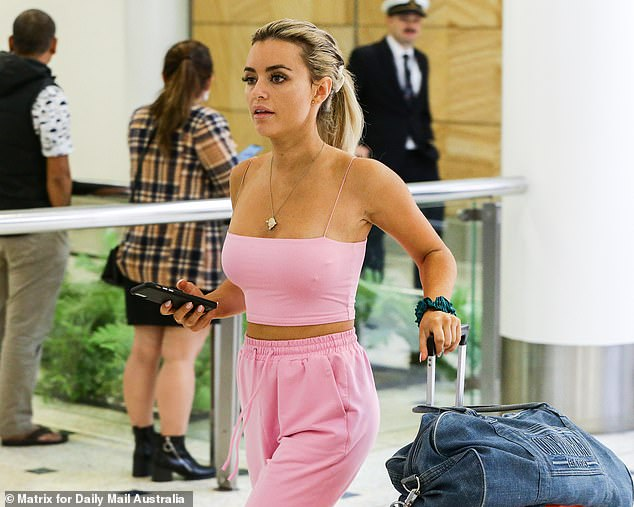 Rules: The model, 26, will spend the next two weeks in lockdown inside her Bondi apartment in accordance with the government's strict new rules to stop the spread of COVID-19