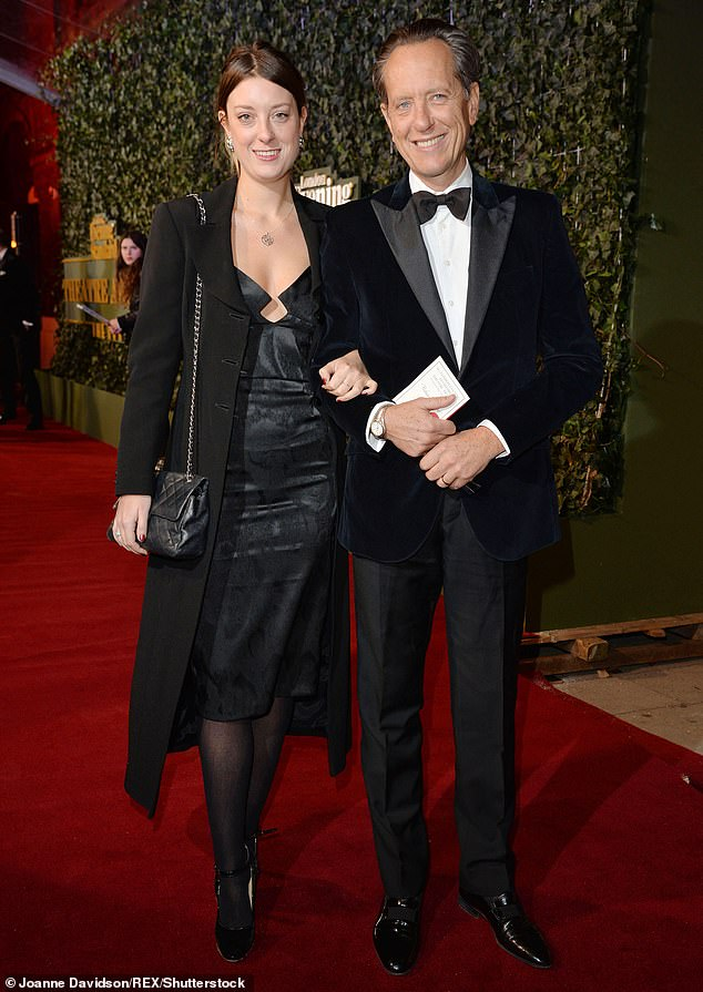 Proud father:The couple went on to have one daughter, Olivia, 31, together (pictured in November 2015), while Richard is a step-father to Tom, 44, from Joan's previous marriage