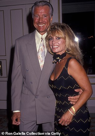 With wife Sharon Kennedy in Beverly Hills in 1991
