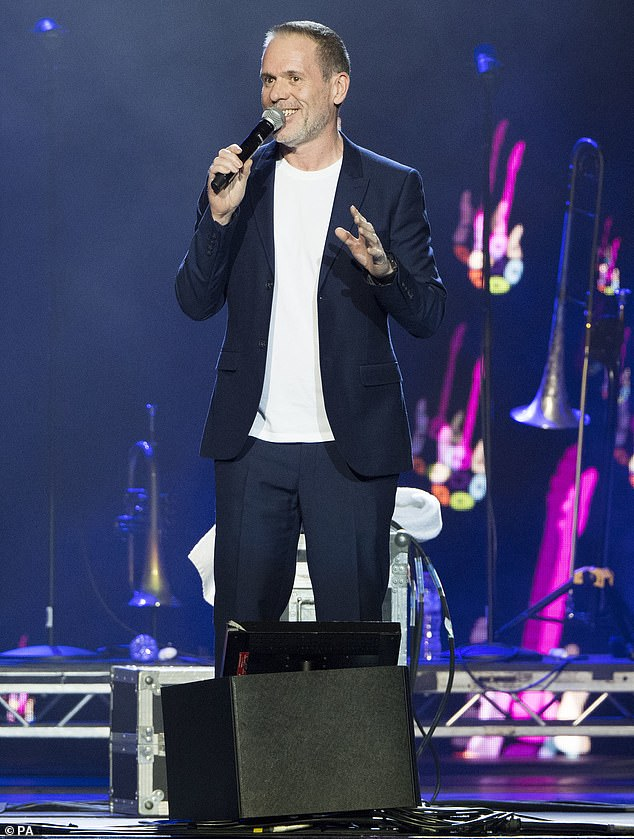Funnyman: Comedian Chris Moyles showed off his recent weight loss at the event