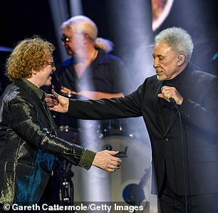 Dream team: Tom and Mick sang a duet on stage