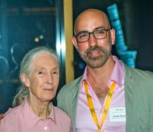 Thomas Gillespie with primatologist Jane Goodall