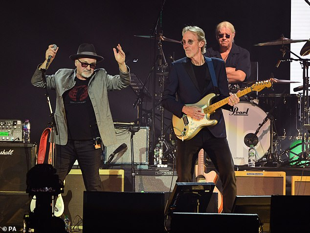 Rock on: Paul Carrack and Mike Rutherford, who first collaborated in 1985 for Mike + The Mechanics, performed together at the event