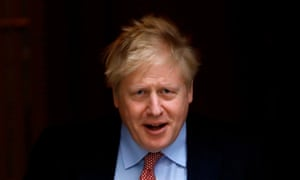 Boris Johnson leaves 10 Downing Street in central London on 18 March 18, 2020, on his way to the House of Commons to attend PMQs