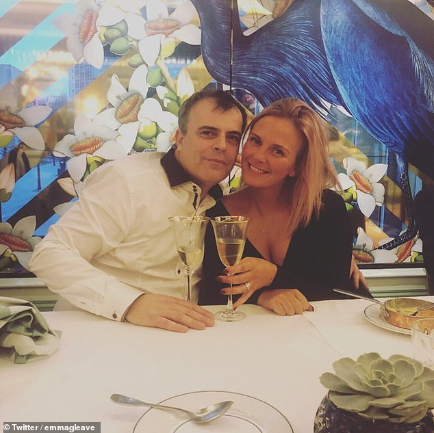 Upsetting: Coronation Street star Simon Gregson's wife Emma has revealed her grandmother has died of coronavirus, hours after he revealed he was battling the disease