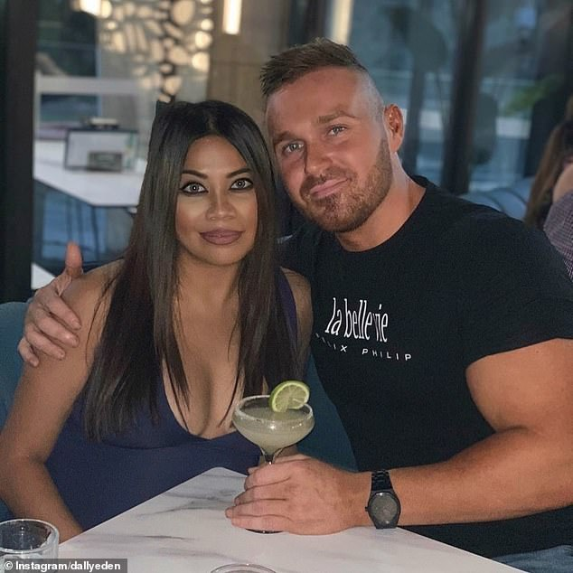 'We are all good': Cyrell Paule (left) and Eden Dally (right) are still together after police took out an AVO against the MAFS star on behalf of her boyfriend following a domestic dispute