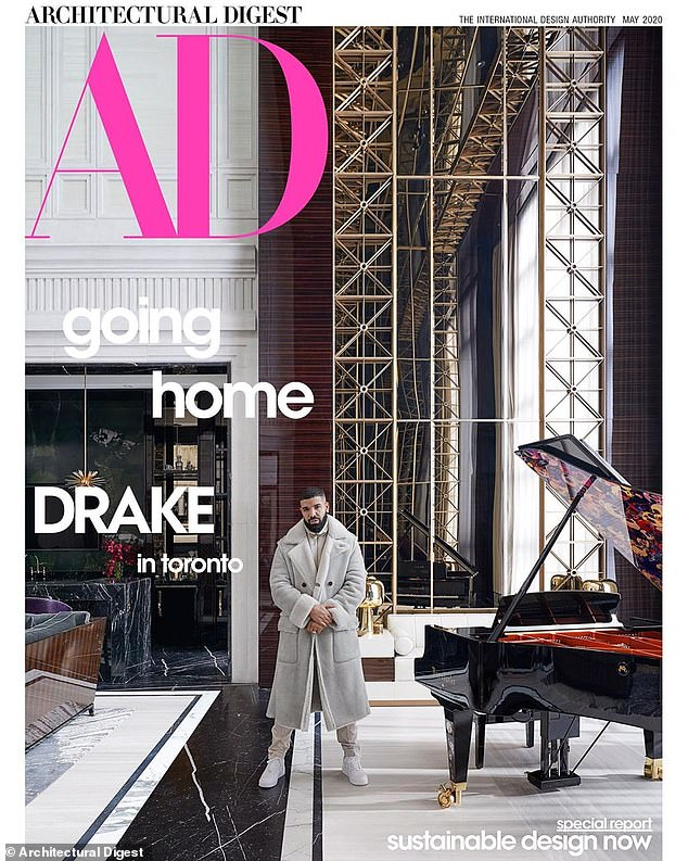 Hold On, We're Going Home:Drake has opened the doors to his glorious and awe-inspiring Toronto mansion for the May 2020 issue of Architectural Digest