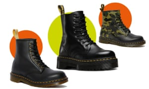 (L-r) Dr Martens Vegan 1460 boot; the chunky-soled Jadon; and Bape's camo-print boot.