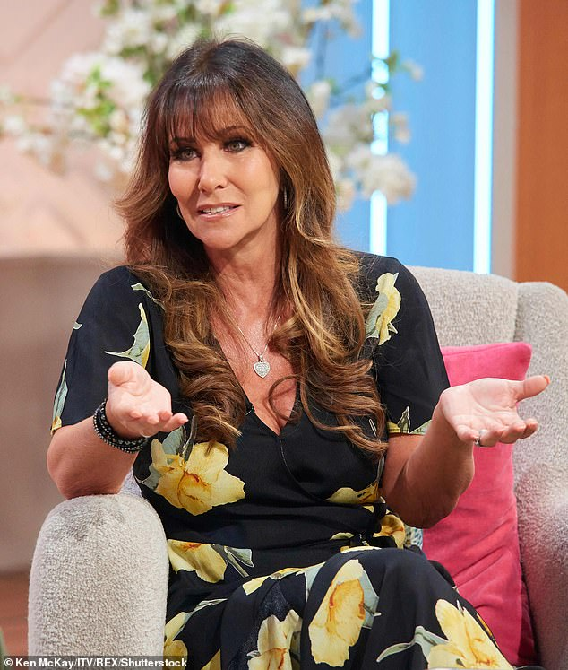 'Good to be home':Linda Lusardi said it's 'good to be home' on Friday after she was discharged from hospital following her brutal COVID-19 battle (pictured on Lorraine in August 2019)