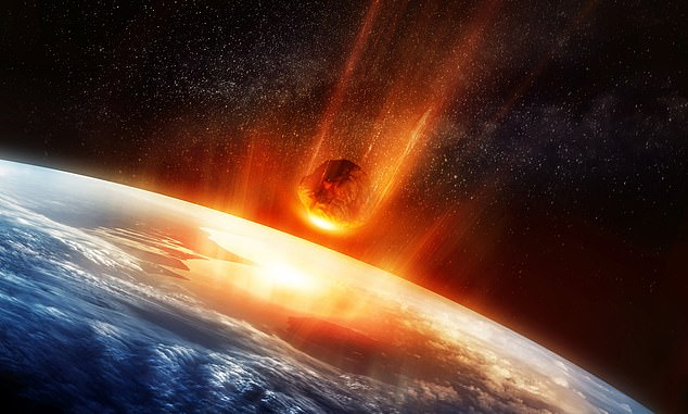 The asteroid that killed the dinosaurs hit 66 million years ago near what is now Mexico and was the size of a city - it killed 75 per cent of all plant and animal life