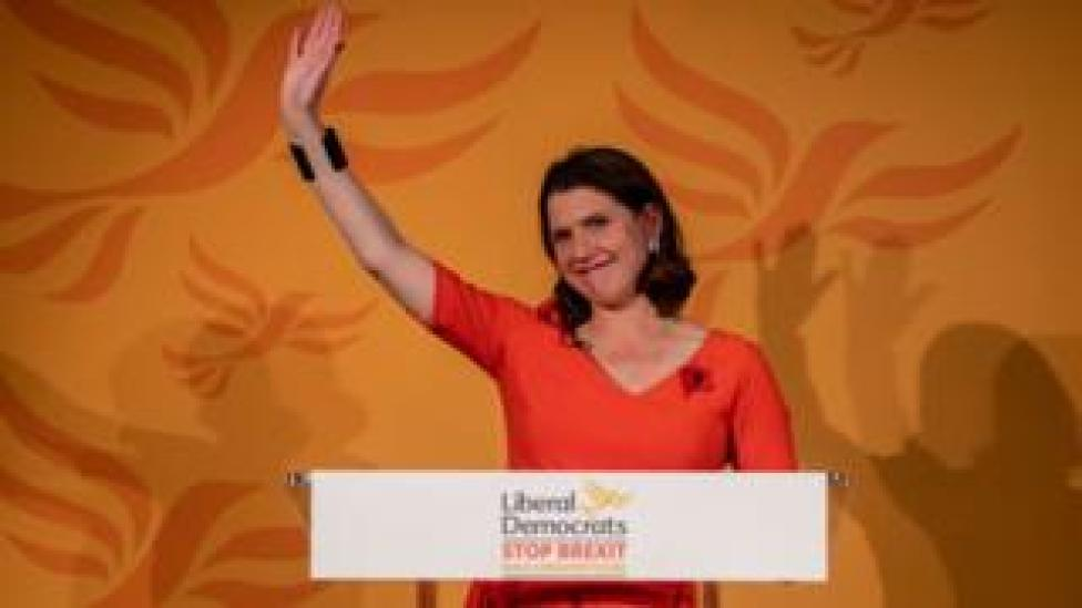Jo Swinson at the start of the 2019 general election campaign