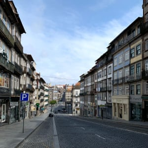 Even amid reopening, Porto's streets remain quieter than usual.
