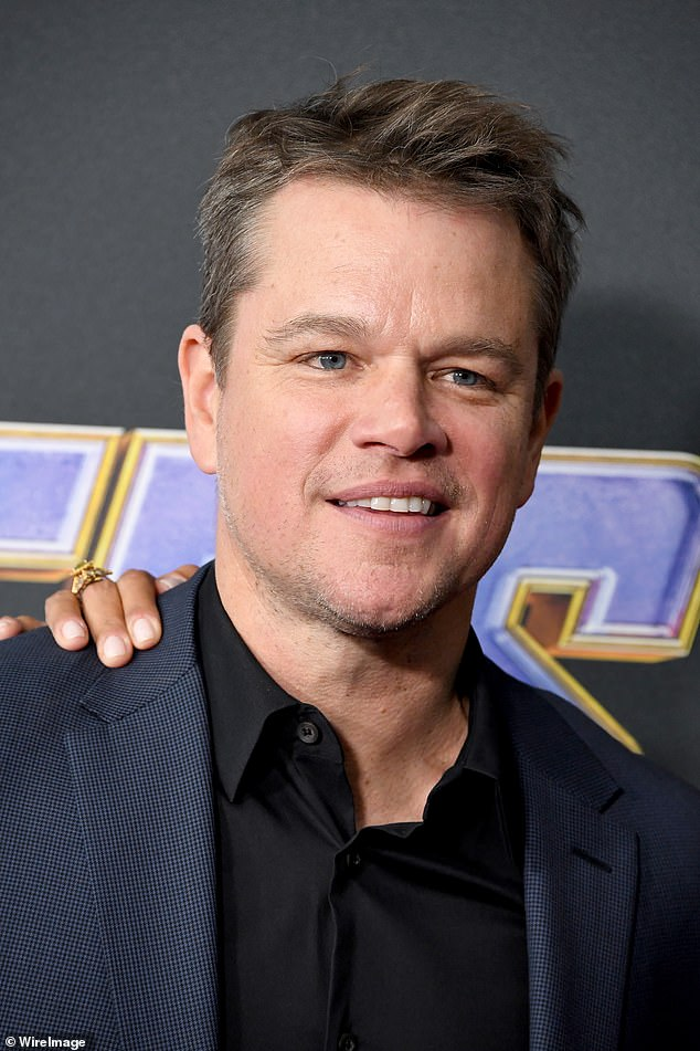 Open and honest: Matt Damon has revealed his eldest daughter Alexia, 21, contracted coronavirus early on in the global pandemic while residing in NYC