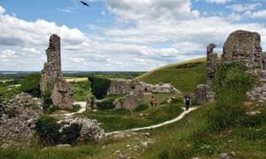 National Trust's Corfe Castle in Dorset