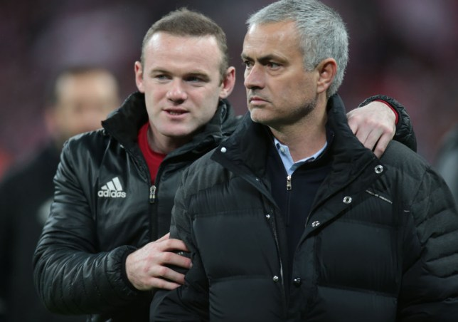 Manchester United legend Wayne Rooney and Jose Mourinho