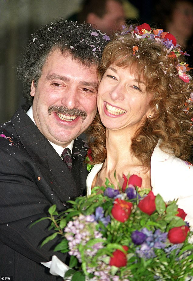 Former flame:Michael was married to Coronation Street star Helen Worth (pictured) from 1991 until their divorce in 2001, and went on to wed Welsh model Jennifer Khalastchi later that year