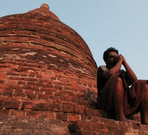 Clifin in Bagan, an ancient city in Myanmar