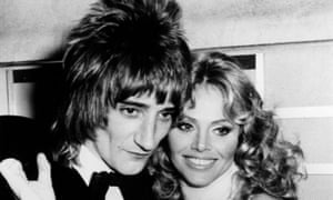 Ekland with Rod Stewart in 1975.
