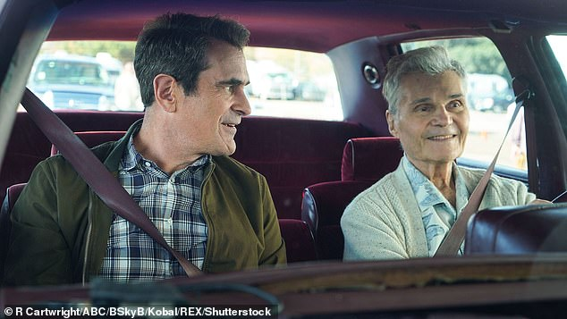 While Fred was famous for his Emmy-nominated roles on Modern Family and Everybody Loves Raymond, he had an illustrious television career dating back to 1966; seen here withTy Burrell