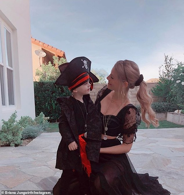 Moving on: Brody Jenner is reportedly dating the mother of Louis Tomlinson's child, Briana Jungwirth [Briana and son Freddie are pictured on Halloween 2019]