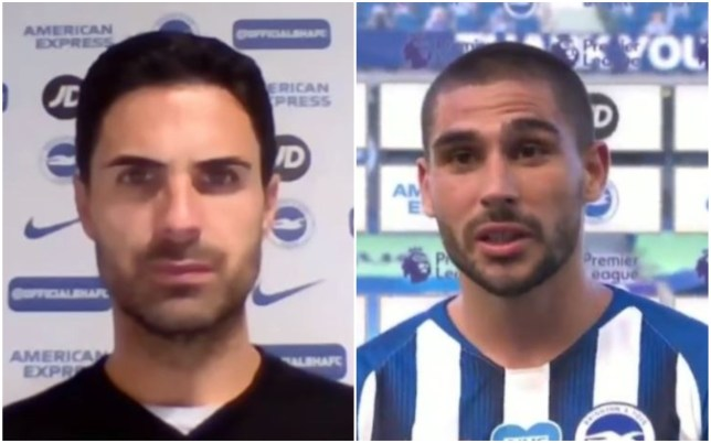 Mikel Arteta disagrees with Neal Maupay's claim that Arsenal's players need to learn humility