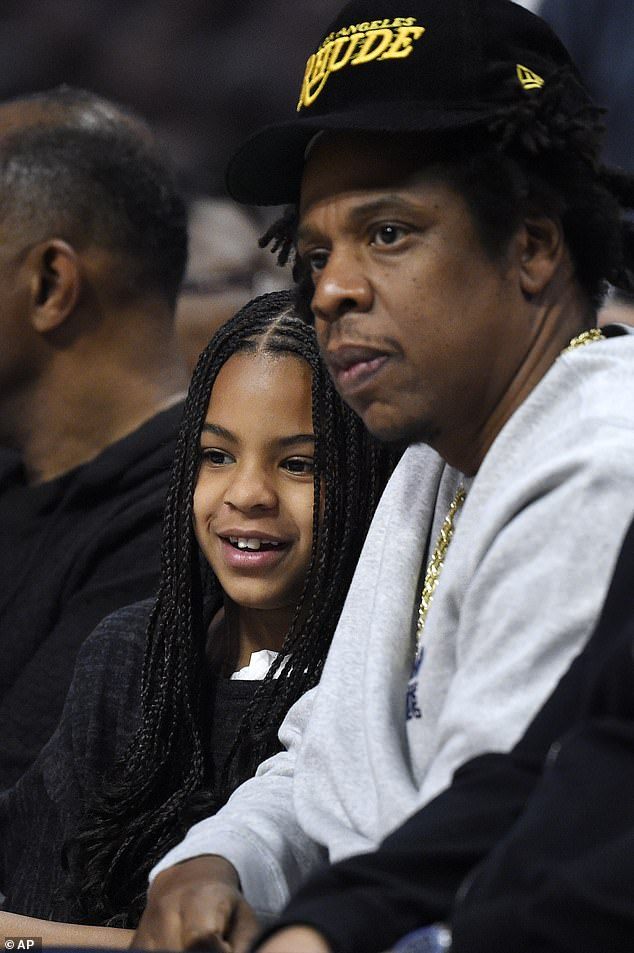 Daddy's little girl: Blue contributed to a bonus track in her father's 4:44 album