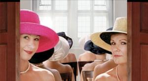With Helen Mirren in Calendar Girls.