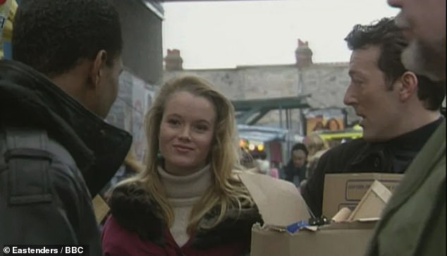 Where it began: Talking about her role as market trader Carmen, Amanda said: 'When I left drama school, EastEnders was one of the first jobs I got'