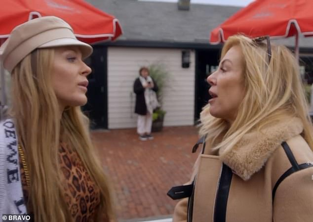 At war: The pair have butted heads more than a few times on RHONY