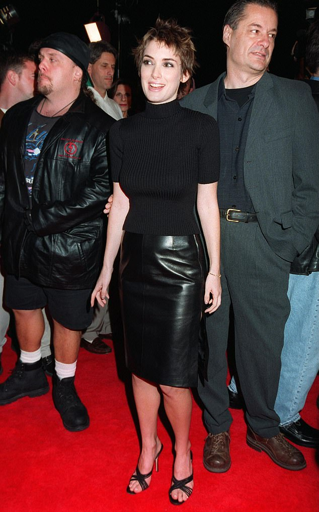 The way she was: Ryder seen here at the Alien: Resurrection premiere in 1997