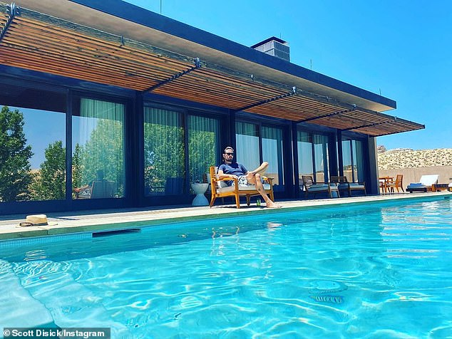 The Keeping Up with the Kardashians ex-couple and their three children stayed at the five-star Amangiri resort in Canyon Point where Kim Kardashian celebrated her 37th birthday in 2017 (pictured May 27)