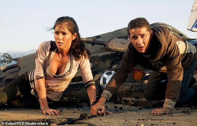 Megan is pictured in 2007's Tranformers. In the sequel, Bay repeatedly told her to just 'be sexy' when she asked about her character's motivations