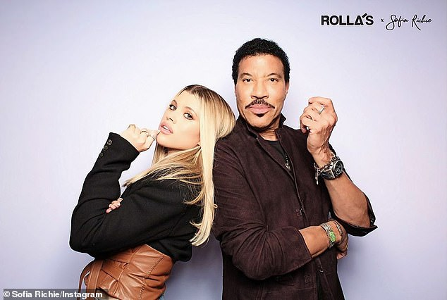 'His family would be his main priority': The 21-year-old Select Model's famous father Lionel Richie (R) never approved of the May-December relationship (pictured February 21)