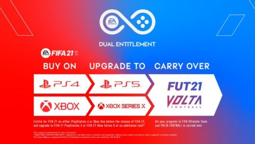 fifa 21 ps5 series x free upgrade deual entitlement