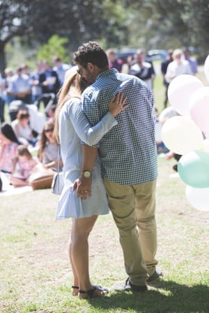 Jonny and Rachael at Mackenzies farewell party. An impossible day.