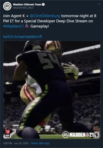 Madden 21 developer deep dive stream