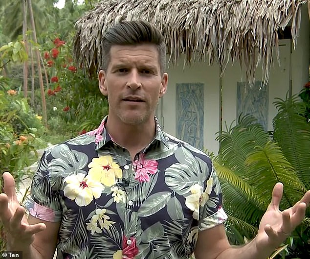 Did YOU spot the editing fail? A mystery woman was spotted lurking on the Bachelor In Paradise set during Wednesday's premiere as Timm Hanly complained about being alone. Pictured: Host Osher Gunsbeerg