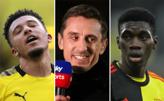 Gary Neville suggests Manchester United should sign Ismaila Sarr as Jadon Sancho alternative