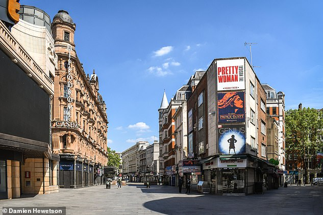 Pictured, Leicester Square during 2020's coronavirus lockdown, with the Hippodrome on the left. The Museum of London recorded road noise to immortalise the silent roads