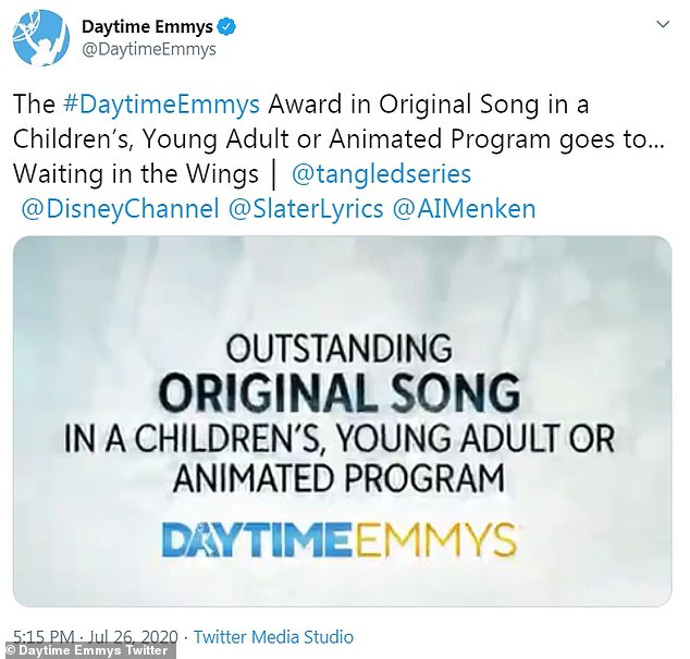 Winnerr:The 71-year-old composer won a Daytime Emmy Award for Outstanding Original Song in a Children¿s, Young Adult or Animated Program for Rapunzel's Tangled Adventure
