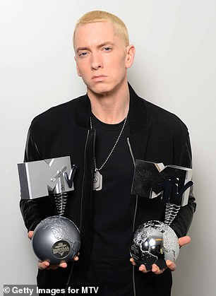 Icon: Eminem is pictured in 2013