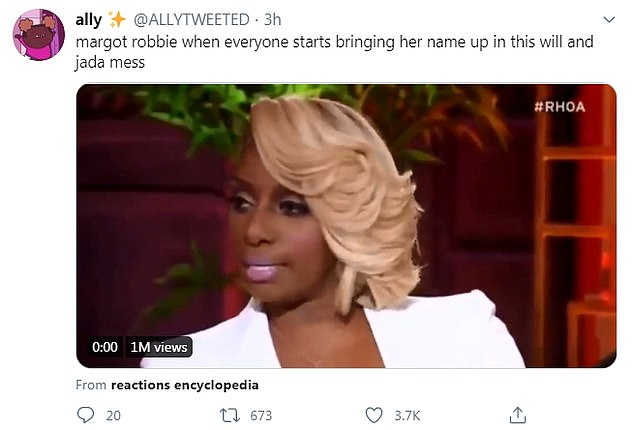Not involved: Another user going by Ally tweeted a short clip of the Real Housewives Of Atlanta star NeNe Leakes claiming she wasn't involved in a dispute with her costars