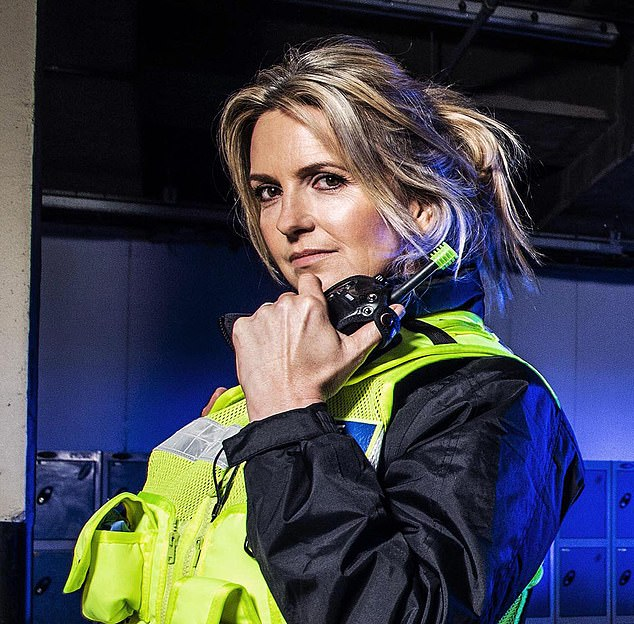 New trade: Penny trained with the police for Famous and Fighting Crime and is now set to become an officer for real