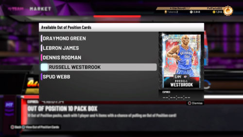 NBA 2K21 2K20 MyTEAM out of position set Russell Westbrook