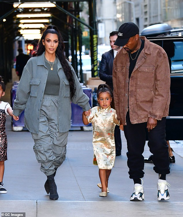 The family:Kim - who has North, seven, Saint, four, Chicago, two, and Psalm, 14 months, with the rapper - was said to have been concerned about his behaviour for some time