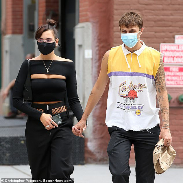 Back in US:Dua recently revealed she'd finally returned to America with boyfriend Anwar, following an idyllic getaway on the island of St Lucia