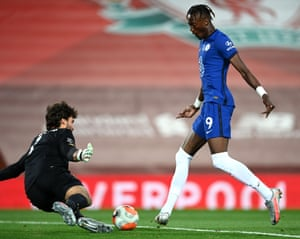 Tammy Abraham of Chelsea scores his team's second goal.