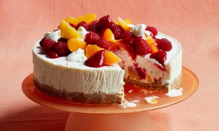 Liam Charles's peach melba frozen cheesecake