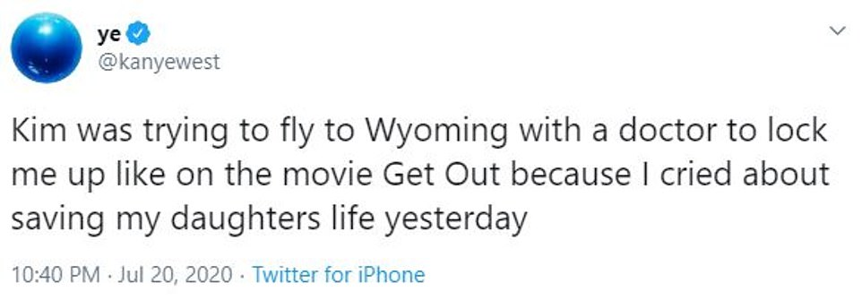 West's many tweets included references to Kardashian's hit reality series, Playboy cover, leaked sex tape and also the movie Get Out
