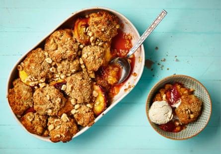 Thomasina Miers's peach, hazelnut and khorasan recipe